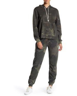 Eco Fleece Camo Zip Joggers