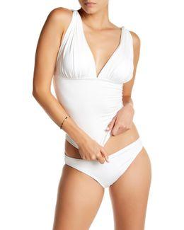Draped Tankini Bikini Top