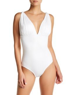 Draped One-piece Swimsuit