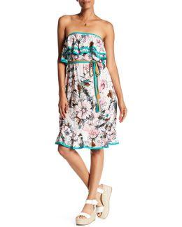Strapless Popover Midi Dress