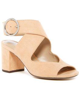 Kali Crossover Block Heel Sandal