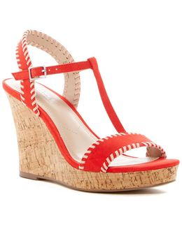 Lip Wedge Sandal
