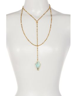 Gilded Jasper Layered Y-necklace
