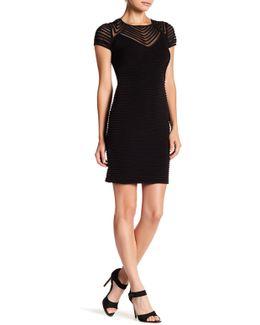 Textured Sheer Detail Dress (petite)