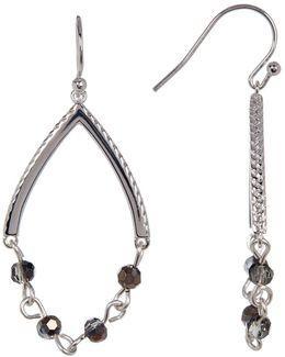 Beaded Chain Wishbone Earrings