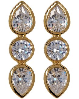 Mixed Cz Drop Earrings