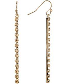 Swarovski Stone Pave Bar Drop Earrings