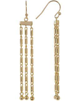 Triple Chain Fringe Earrings