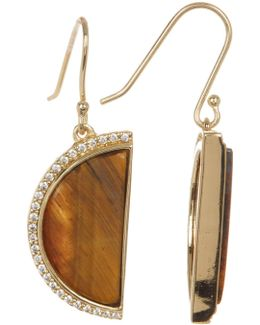 Half Moon Stone Drop Earrings