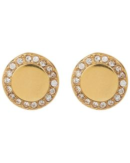 Crystal Halo Round Stud Earrings