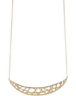 Woven Crescent Pendant Necklace