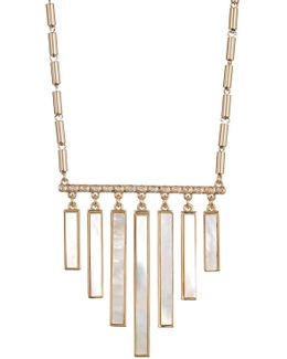 Graduated Mother Of Pearl Bar Frontal Necklace