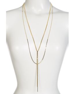 Double Layer Y-drop Necklace