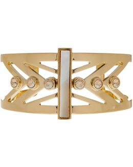 Open Mother Of Pearl Cutout Cuff