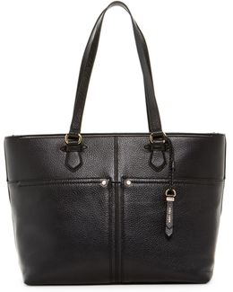 Ilianna Leather Work Tote