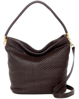Benson Ii Woven Leather Bucket Hobo