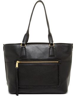 Celia Leather Medium Zip Top Tote