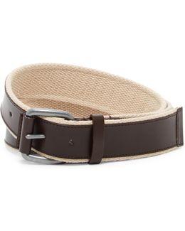 Leather & Webbing Belt