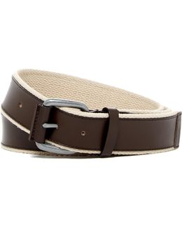 Leather & Webbing Belt