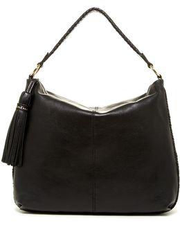 Adalee Leather Tassel Hobo
