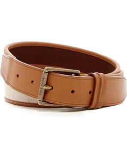 Flat Canvas & Leather Belt