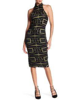 Gabrielle Mock Neck Printed Mini Dress