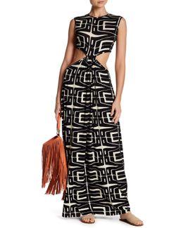 Emily Side Cutout Print Dress