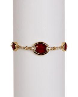 Rhinestone Link Toggle Bracelet