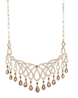 Teardrop Fringe Openwork Frontal Necklace
