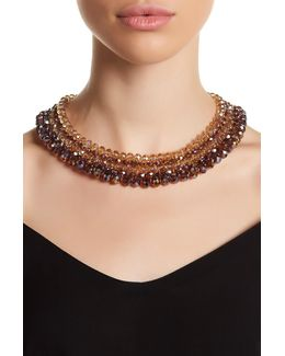 Woven Beaded Collar Necklace