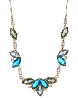 Marquise Cluster Frontal Necklace