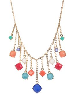 Stone Charm Frontal Necklace
