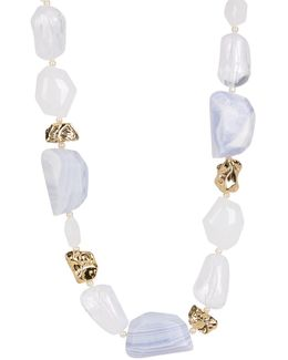 Irregular Stone Beaded Necklace