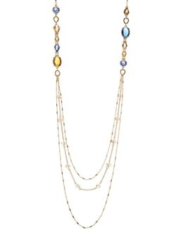 Rhinestone Multi-strand Chain Necklace