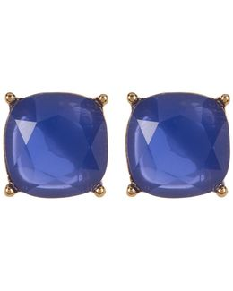 12k Gold Square Stud Earrings