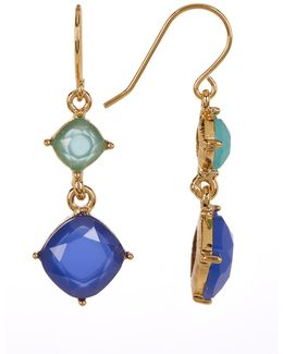12k Gold Double Drop Earrings