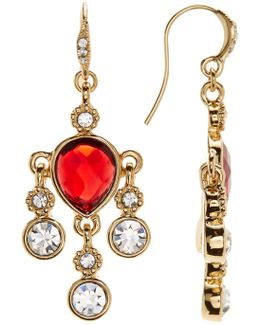 Multi-stone Mini Chandelier Earrings