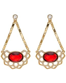Openwork Chandelier Drop Earrings