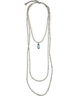 Adrift Swarovski Crystal Pendant Multi-layer Beaded Necklace