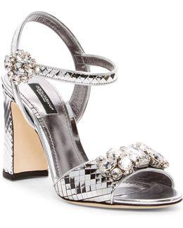 Jeweled Metallic Sandal