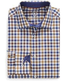 Trim Fit Check Dress Shirt