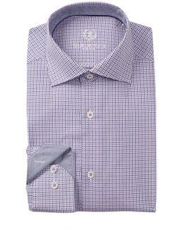 Woven Trim Fit Dress Shirt