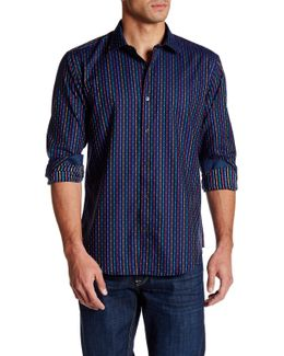 Printed Long Sleeve Shaped Fit Shirt