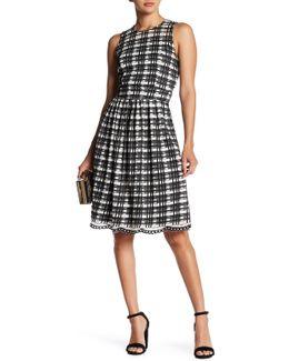 Gathered Check Pattern Dress