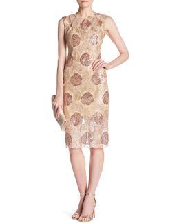 V-back Embellished Sequin Midi Dress