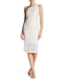 One Shoulder Lace Sheath Dress