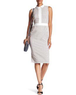 Sleeveless Polka Dot Print Dress