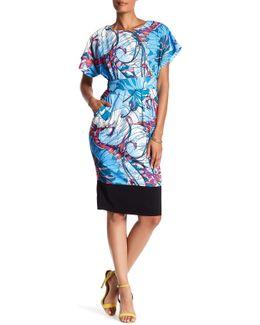 Short Sleeve Print Dress