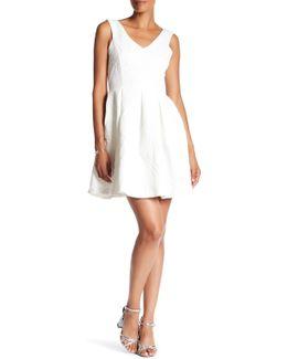 V-neck Textured Knit Dress