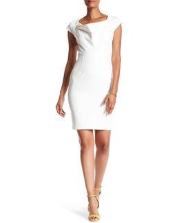Back Button Sleeveless Dress